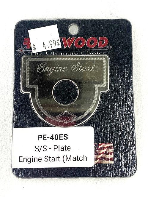 Engine Start Switch Plate