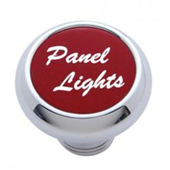 Chrome Dash Knob Red
