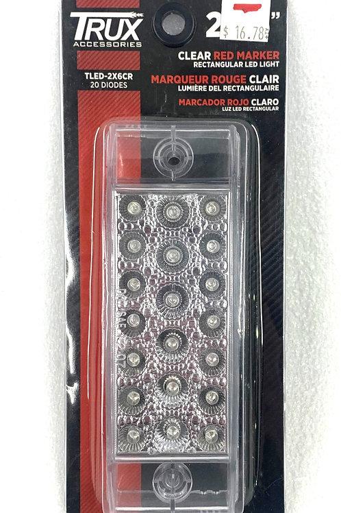 Rectangular Red Marker Light