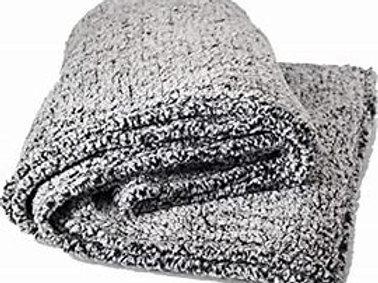 Black Heather Sherpa Blanket