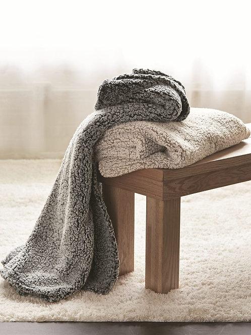 Oatmeal Heather Sherpa Blanket