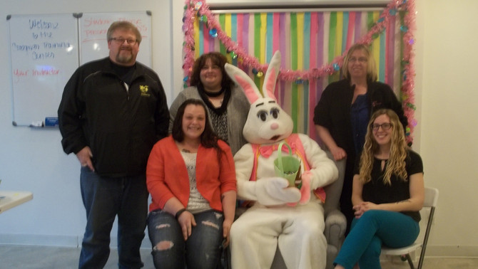 The Easter Bunny Comes for a Visit!