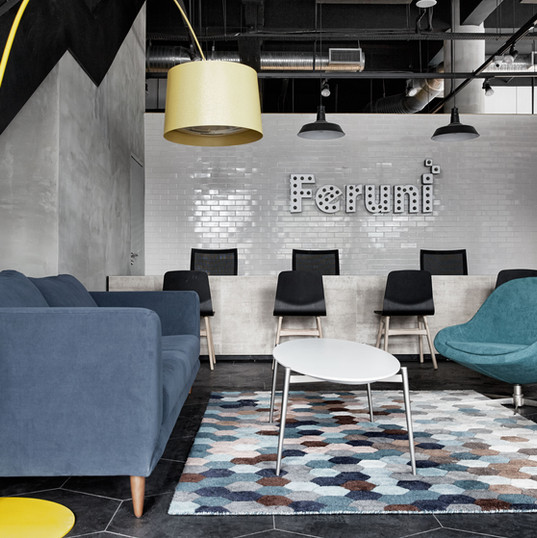 Lounge areas provide room for one-to-one consultations