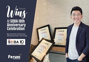 Feruni Wins At SOBA 10th Anniversary Celebration