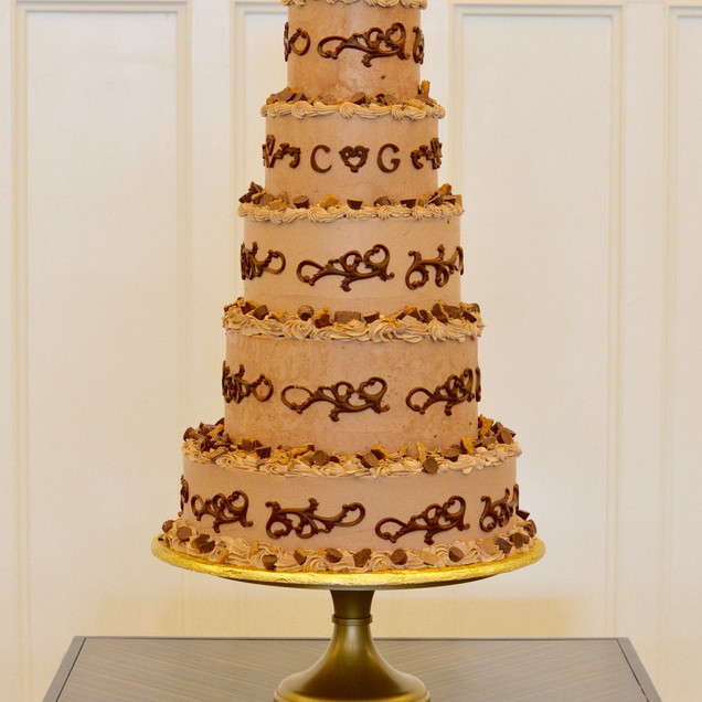 Chocolate Candy Coasted Grooms Cake