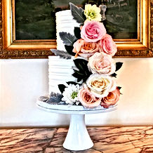 ButterCream in Bloom Wedding Cake