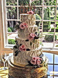 Vintage Swirl Buttercream Wedding Cake