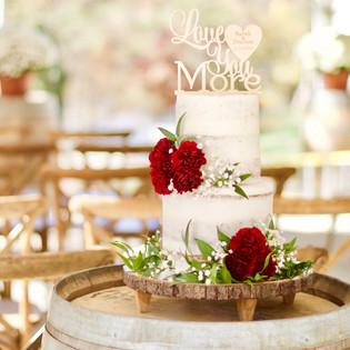 A Lake Wedding Naked Cake