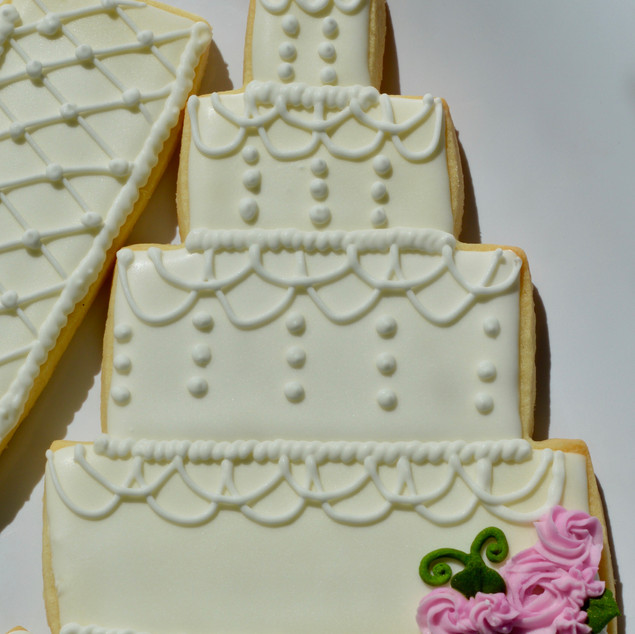 Swag Wedding Cake Cookie