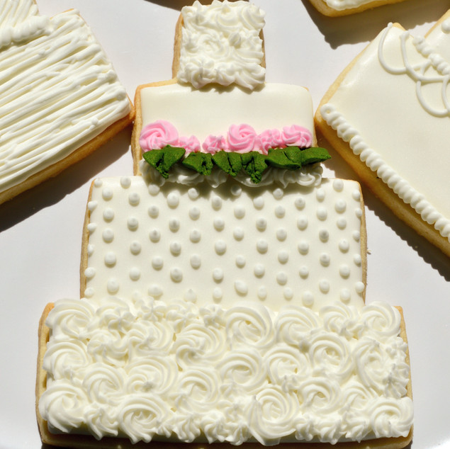 Rosette Dot Wedding Cake Cookie