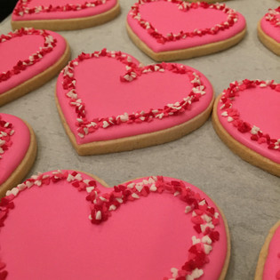 Heart Valentine's Day Cookies