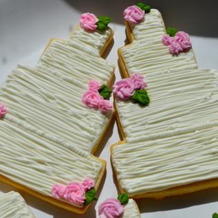 Rustic Wedding Cake Cookies