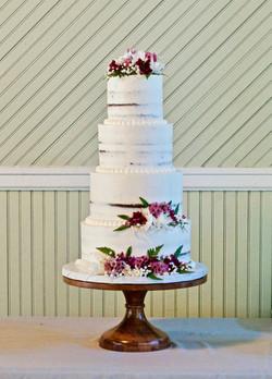 "16"" Natural Wood Cake Stand"