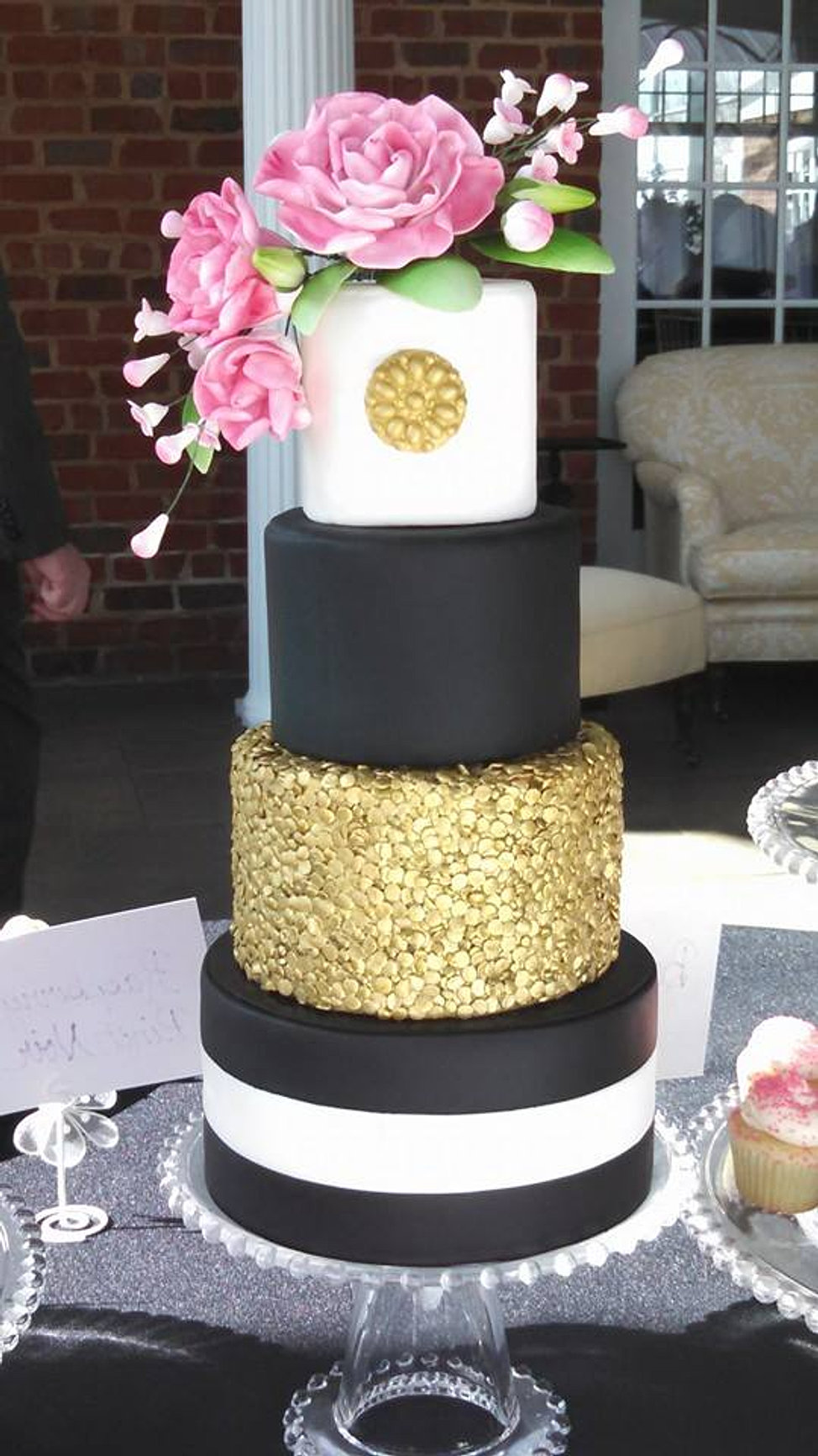 Black Gold And White Cake