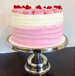 White Chocolate Raspberry Dessert Cake