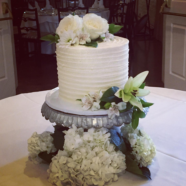 Single tiere Wedding Cake