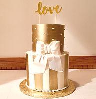 Golden Bow Cake