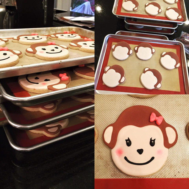 Baby Girl Monkey Cookies
