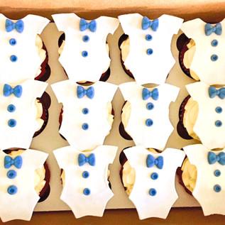 Baby Onesie Cupcakes