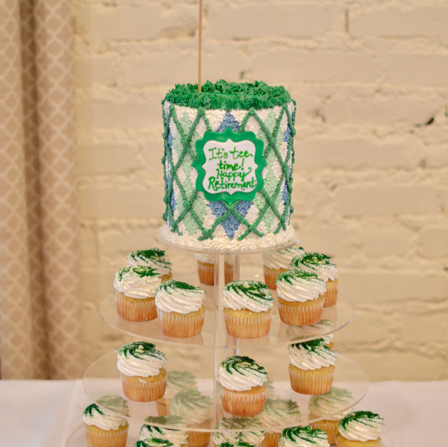 Argyle Sweater Golf Cake & Cupcake Tower