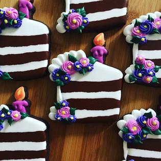 Slice of Birthday Cake Cookies