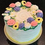 Buttercream Floral Birthday Cake