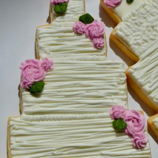 Textured Wedding Cake Cookie