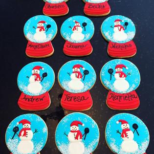Snow Globe Snowman Cookies