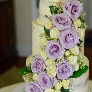 Blooming Naked Wedding Cake