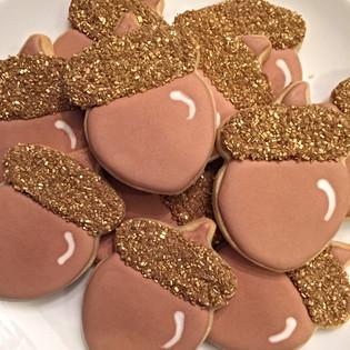 Gold Acorn Cookies
