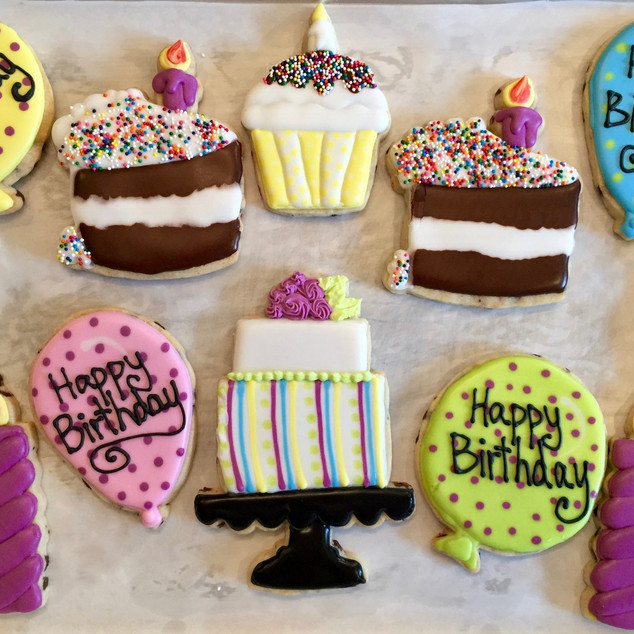 Kelsey Birthday Cookies