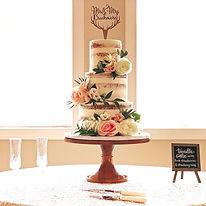 3-tier Naked Wedding Cake