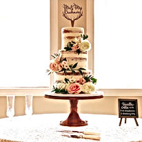 3-tier Naked Wedding Cake