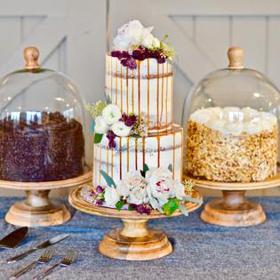 Naked Caramel Drizzle Wedding Cake