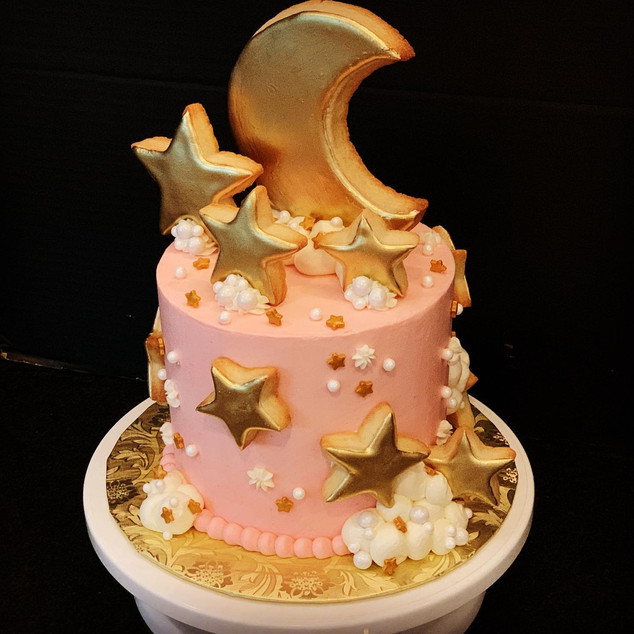 Moon & Stars Cookie Topper