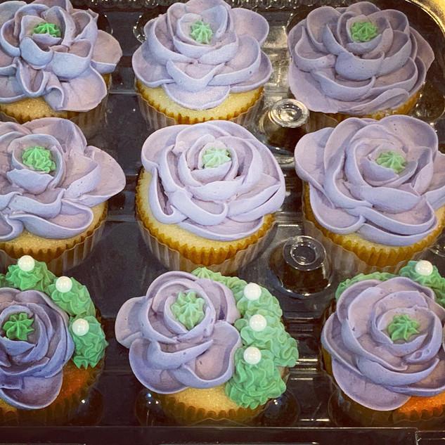 Cactus Flower Cupcakes