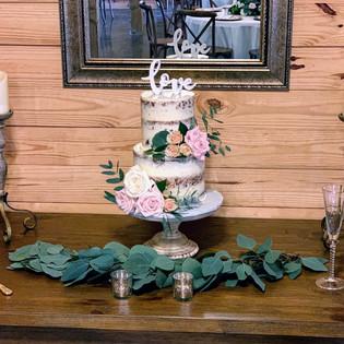 Naked 2 Tier Wedding Cake