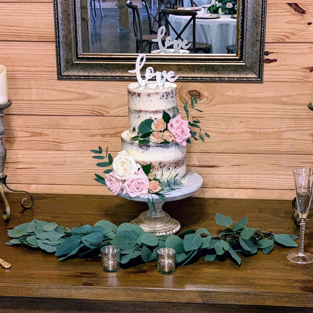 Naked 2 Tier Wedding Cake