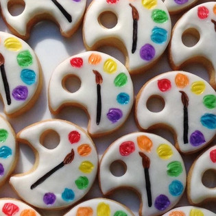 Painter Pallet Cookies
