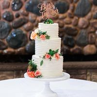 3 Tiered Swirl Wedding Cake