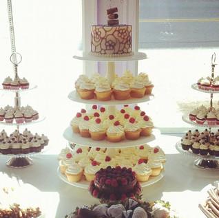 Wedding Cake Topper &  Cupcake Tower