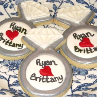 Engagement Diamond Ring Cookies
