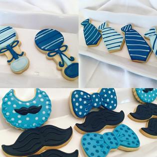 Little Man Baby Shower Cookies