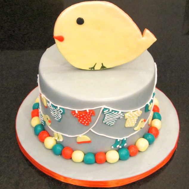 Birdie Cookie Cake Topper