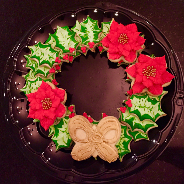 Christmas Wreath Cookie Platter