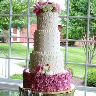 Buttercream Rosette & Filagree Wedding C