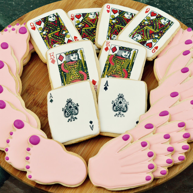 Hand & Food Card Cookies