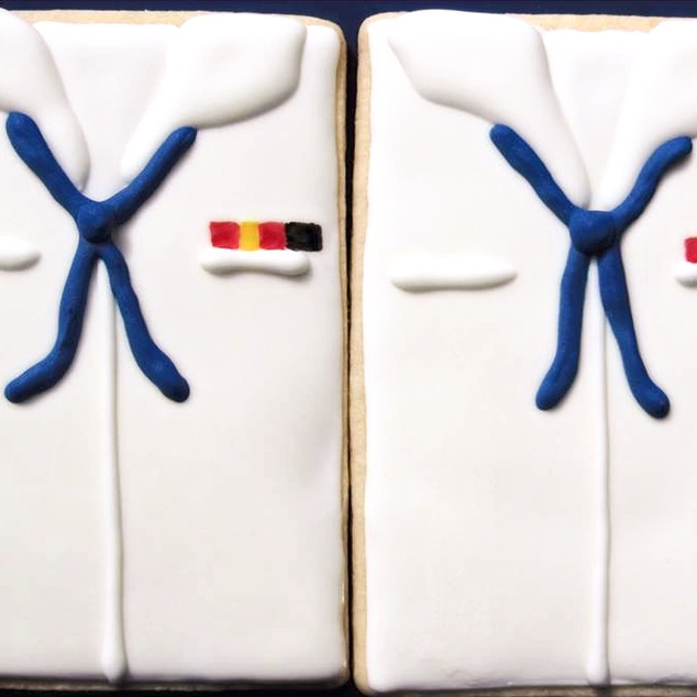 Navy Dress White Cookies