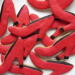 Red High Heel Cookies