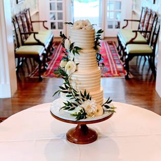 Swirl 4 tiered Wedding Cake